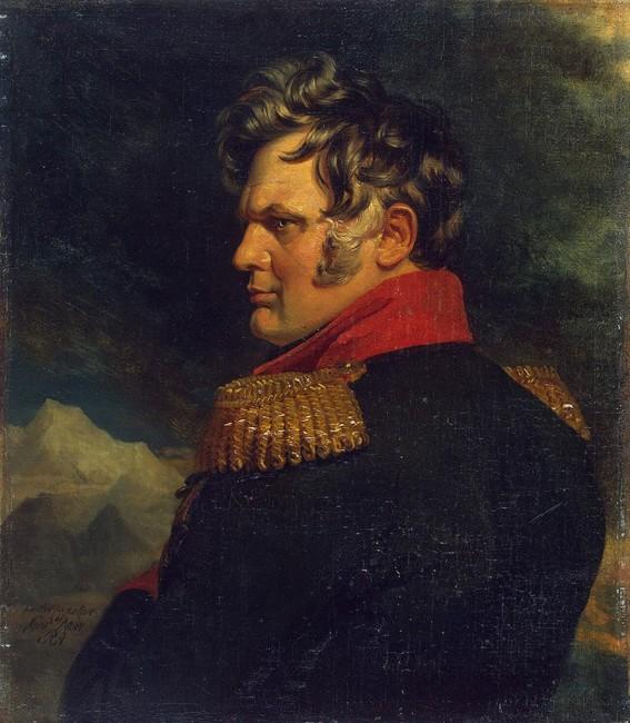 Фрагмент портрета Алексея Ермолова  кисти Джорджа Доу