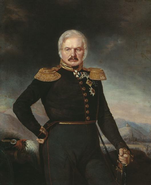 Портрет Алексея Ермолова кисти П.Захарова-Чеченца, примерно 1843 год