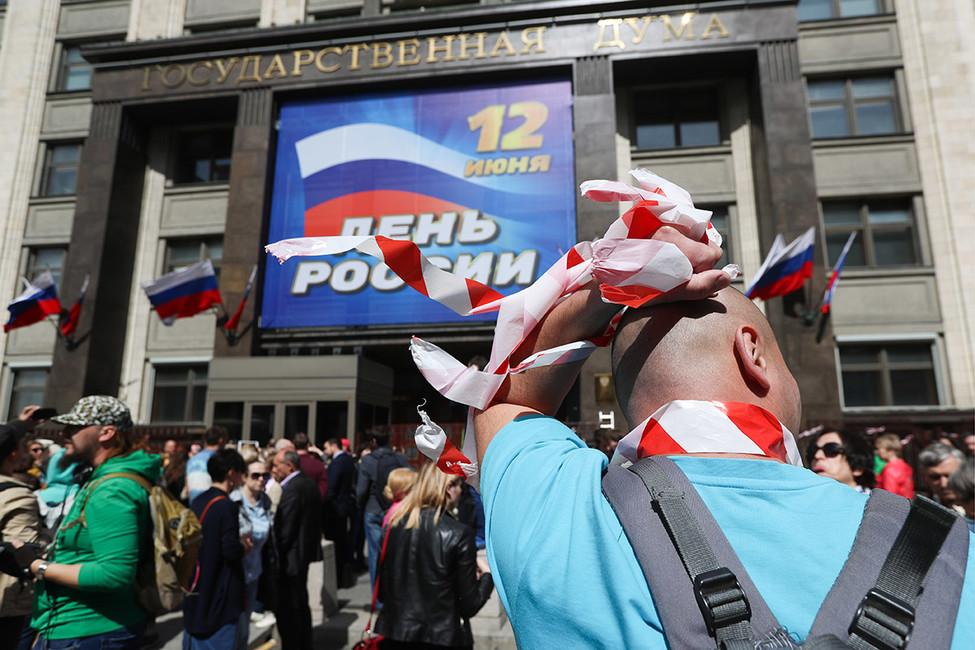 «Она нестихийная, аорганизованная». Юлия Галямина омитинге противников реновации возле Госдумы