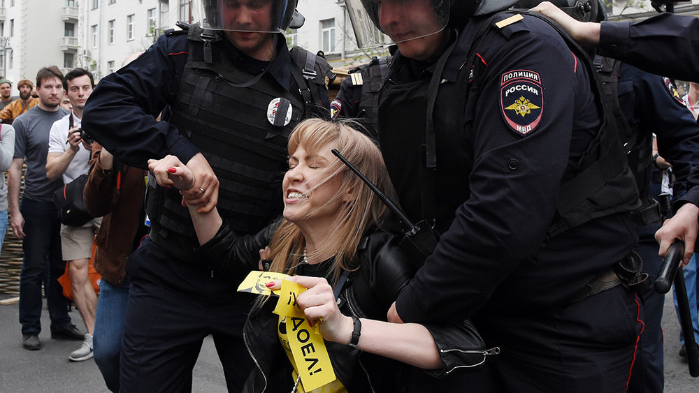 Марию Баронову задержали наантикоррупционном митинге вМоскве