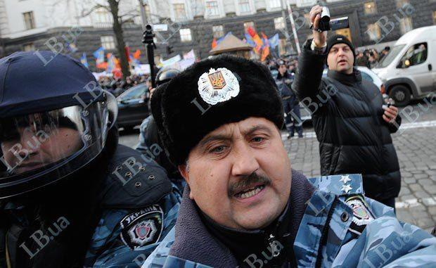Кусюк вовремя митинга вдекабре 2011года. Фото: Макс Левин/ lb.ua