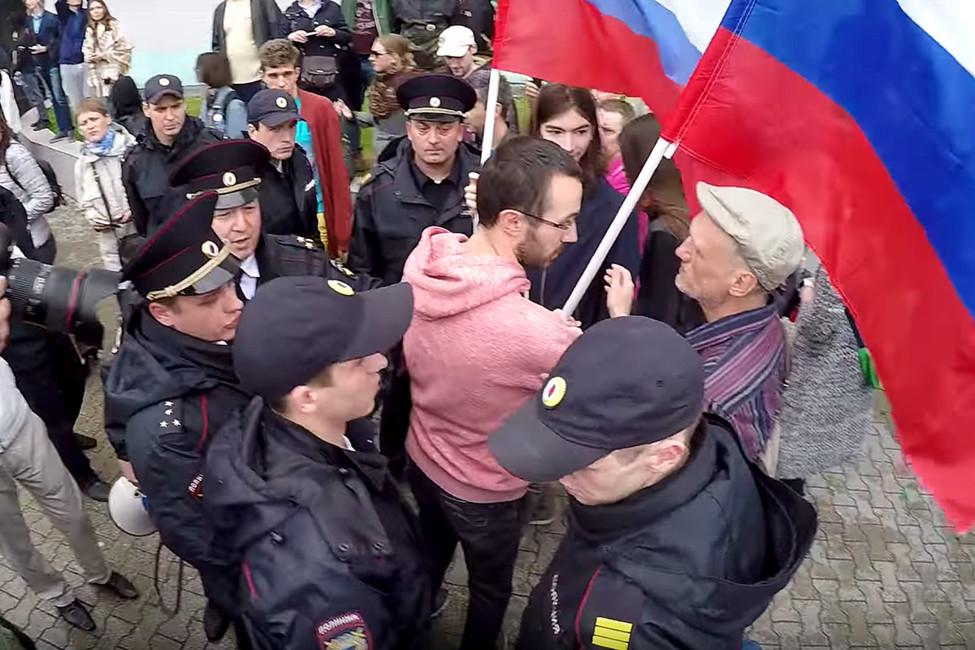 Акция против коррупции вКалинграде, 12июня 2017года. Кадр: Youtube