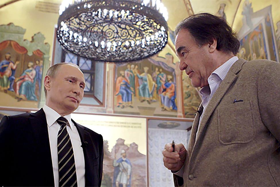 Кадр издокументального фильма Оливера Стоуна оВладимире Путине