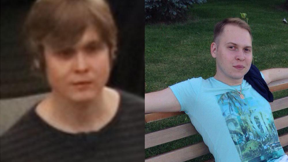 Фотография человека намитинге (слева) ифотография состраницы пользователя Вконтакте (справа), которую нашло приложение FindFace