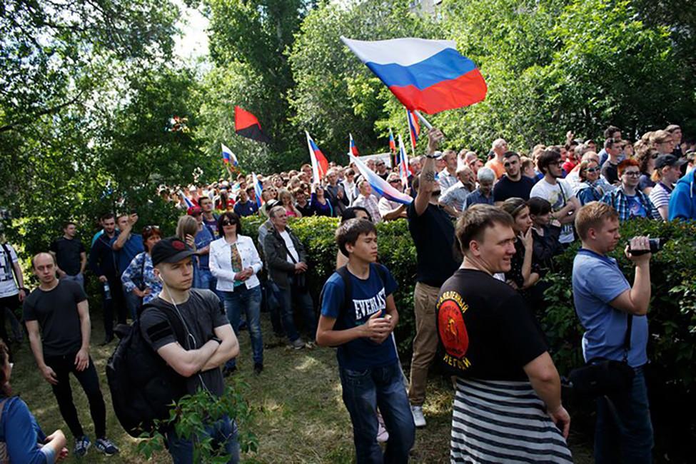 Митинг «Димон ответит» вСаратова, 12июня 2017года. Фото: fn-volga.ru
