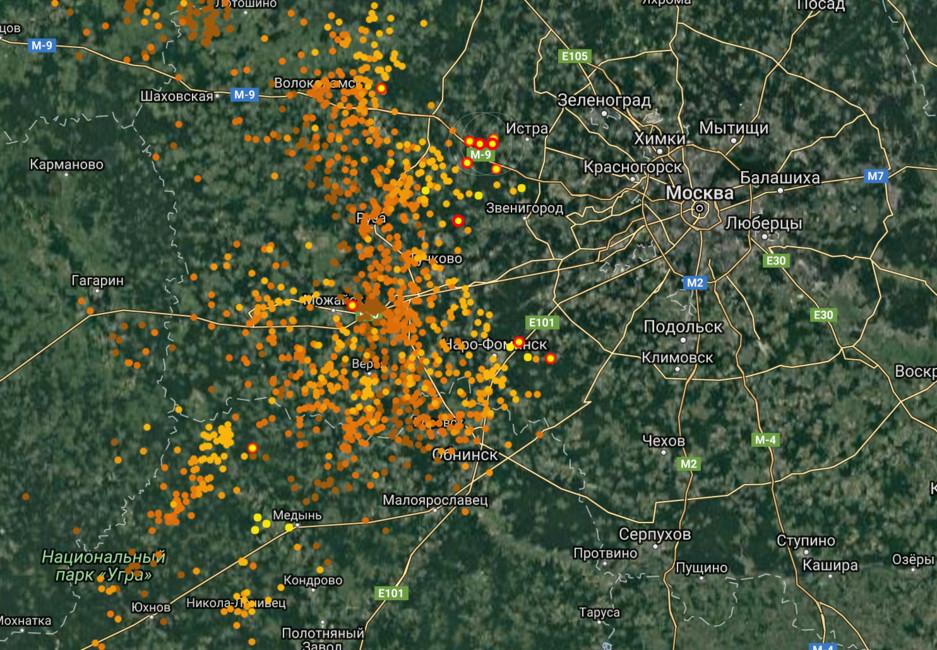 КМоскве приближается сильный шторм