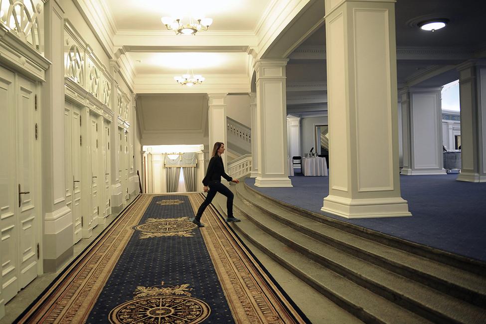 Вздании Новосибирского театра оперы ибалета. Фото: Евгений Курсков/ ТАСС