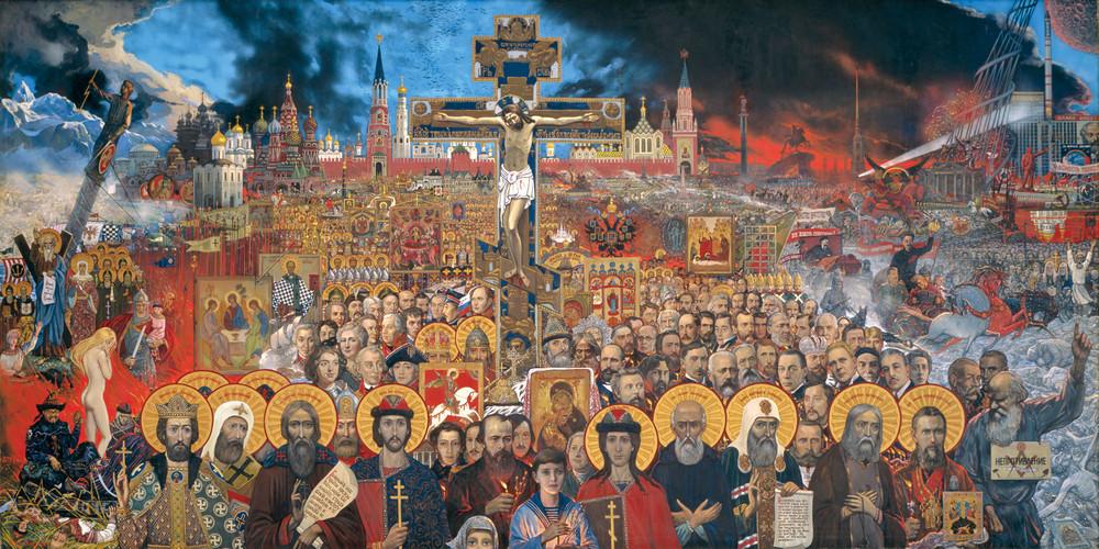 Вечная Россия, 1988год. Художник: Илья Глазунов