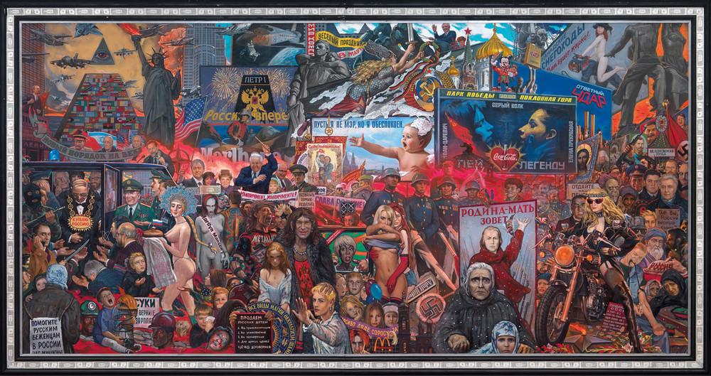 Рынок нашей демократии, 1999год. Художник: Илья Глазунов