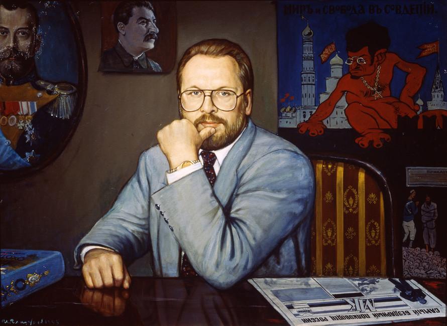 Журналист Павел Гусев, 1995год. Художник: Илья Глазунов
