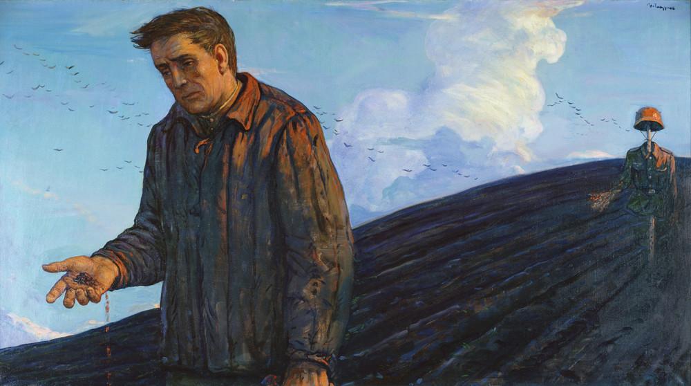 Земля— 1945год, 1986год. Художник: Илья Глазунов