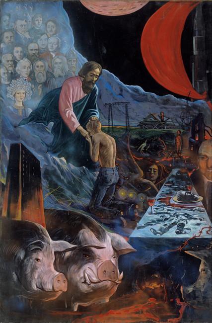 Возвращение блудного сына, 1977год. Художник: Илья Глазунов