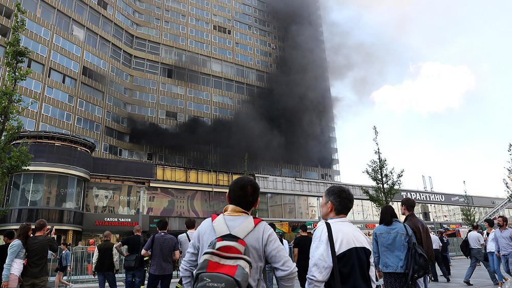 НаНовом Арбате загорелся «дом-книжка»