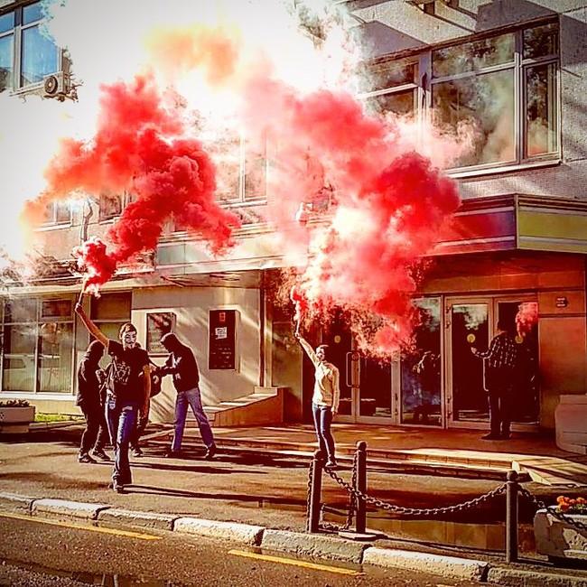 Акция «Левого блока» возле офиса Роскомнадзора. Фото: официальная страница ВКонтакте