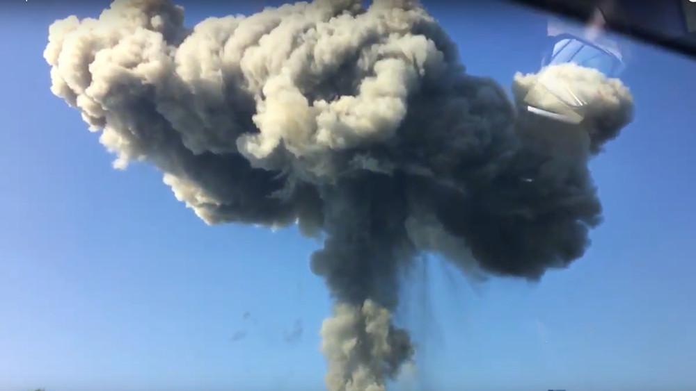 Врезультате взрыва наскладе боеприпасов вАбхазии пострадали 20россиян