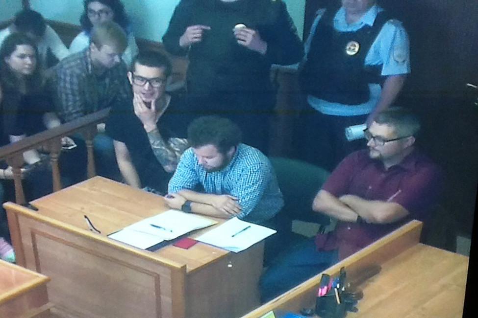 Али Феруз вовремя судебного заседания. Снимок экрана свидеотрансляцией. Источник: Twitter