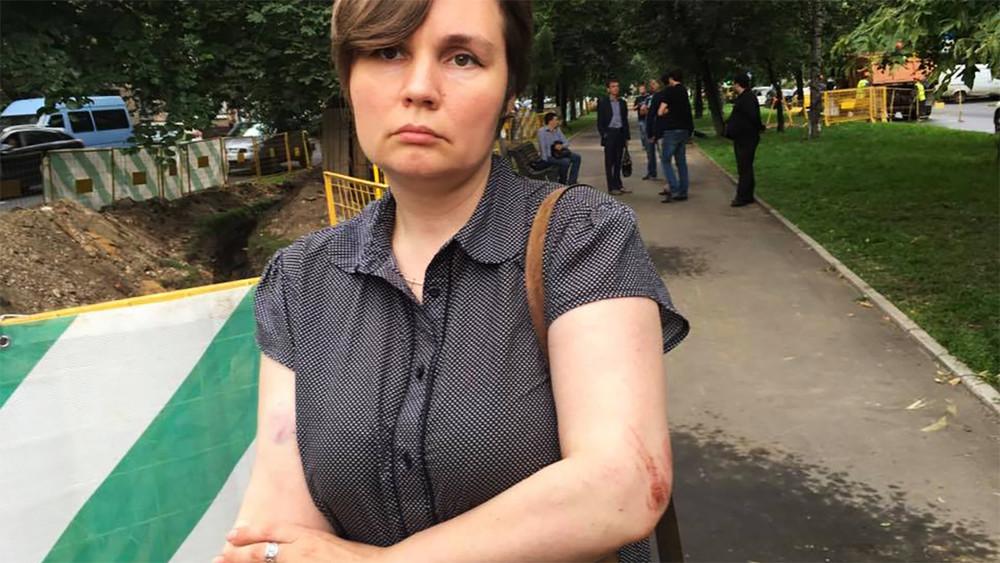 ВМоскве избили депутата от«Яблока» Александру Парушину