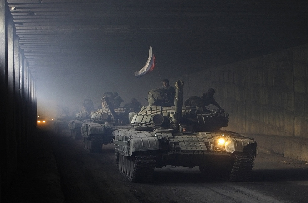 Российские войска вЮжной Осетии, август 2008год. Фото: Денис Синяков/ Reuters