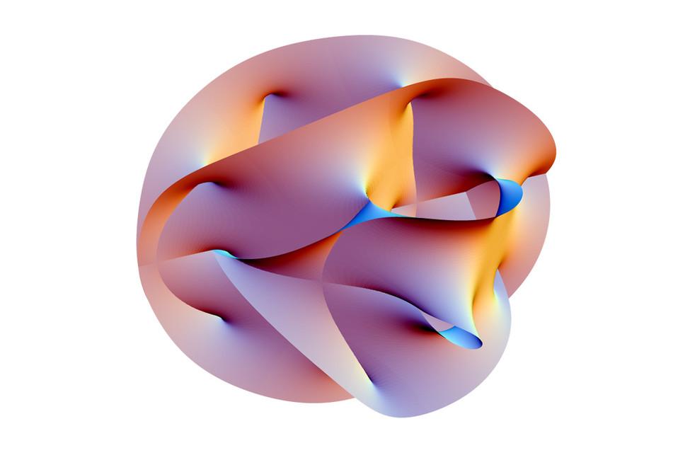 Проекция 6-мерного пространства Калаби— Яу, полученная спомощью Mathematica