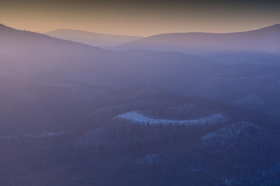 Вид сверху наполя Хабаровского края. Фото: Руслан Шамуков/ ТАСС