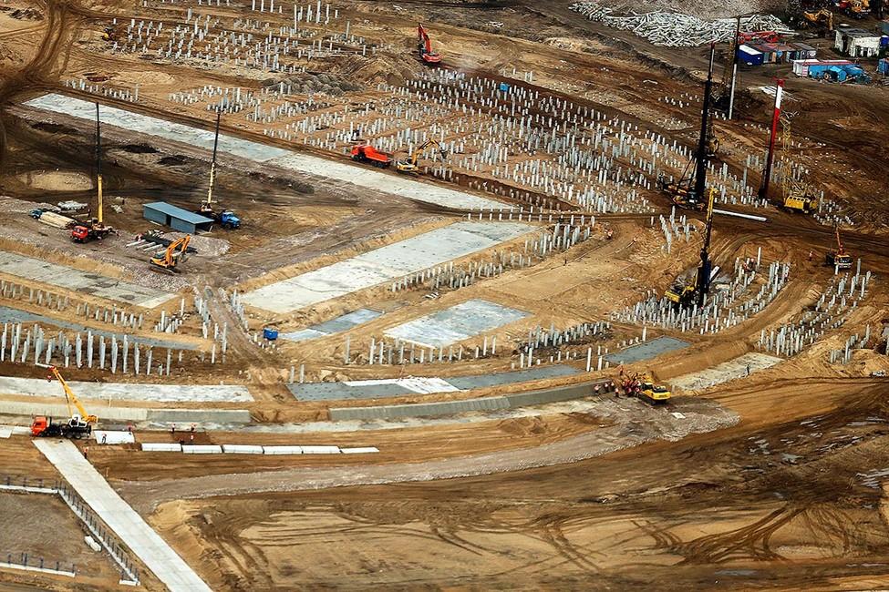 Вид настроящийся стадион «Нижний Новгород». Фото: Сергей Фадеичев/ ТАСС
