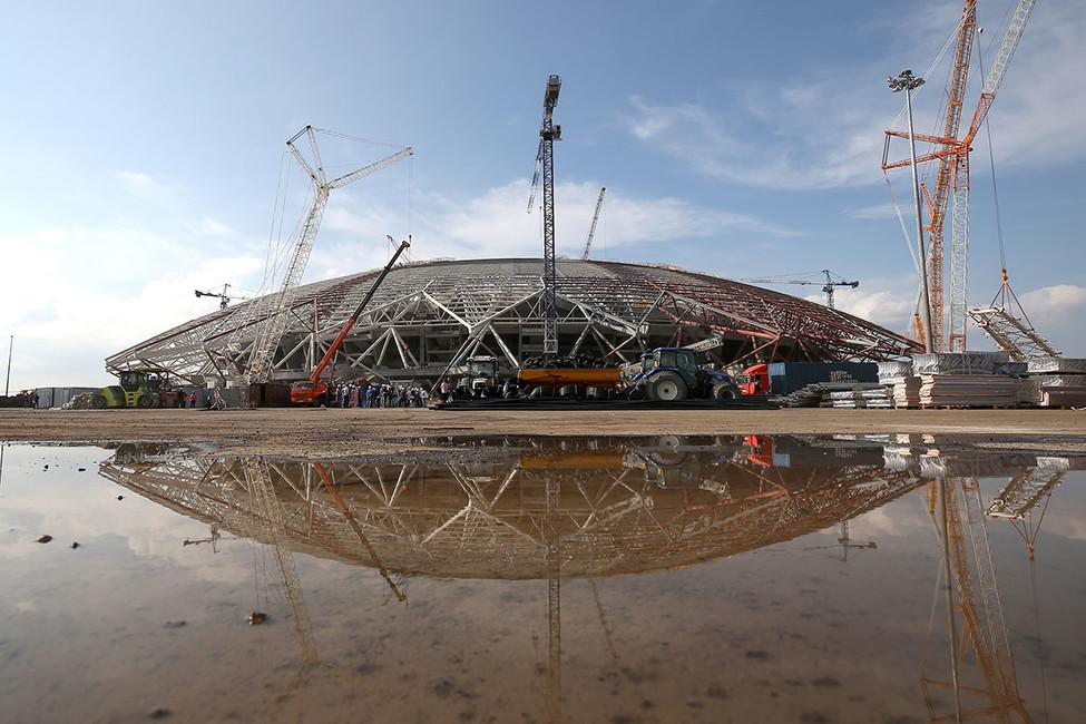 Вид настадион «Самара Арена». Фото: Егор Алеев/ ТАСС