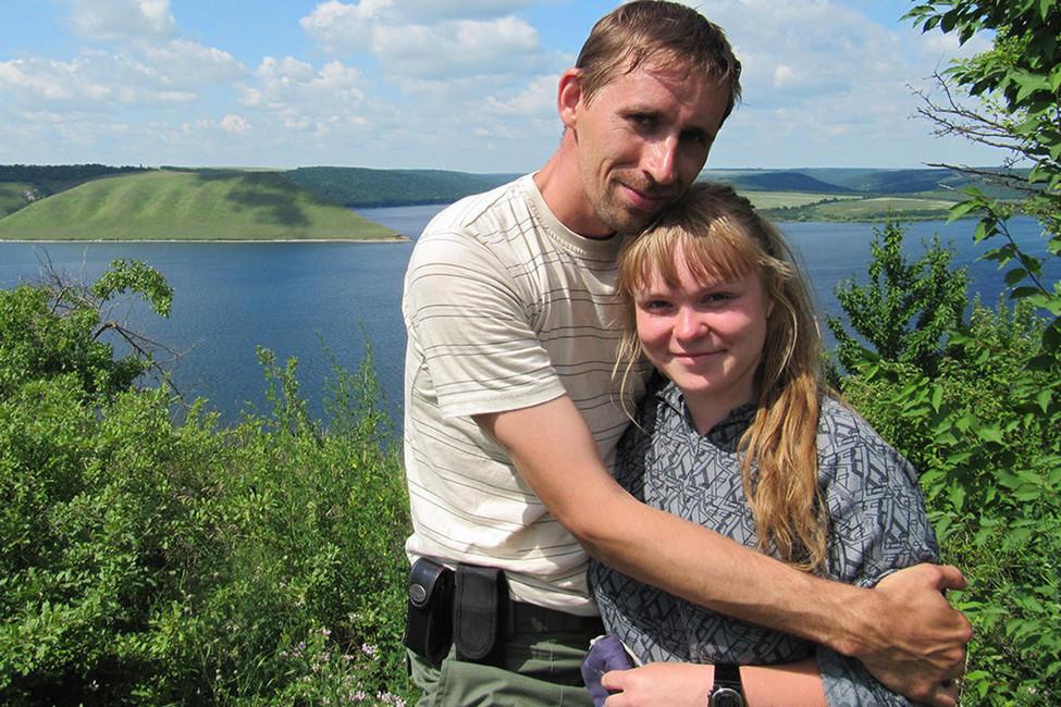 Андрей Бубеев ссвоей женой. Фото: личный архив