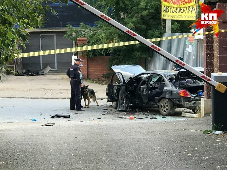 ВУфе взорвалась бомба всалоне припаркованного автомобиля
