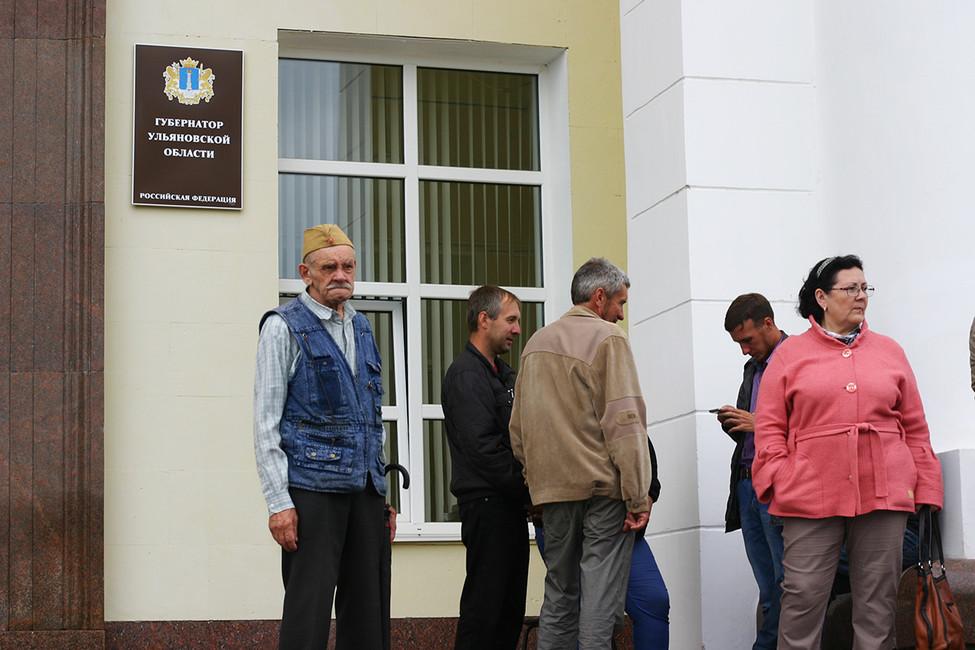 Протестующие уздания правительства Ульяновской области. Фото: Артем Горбунов
