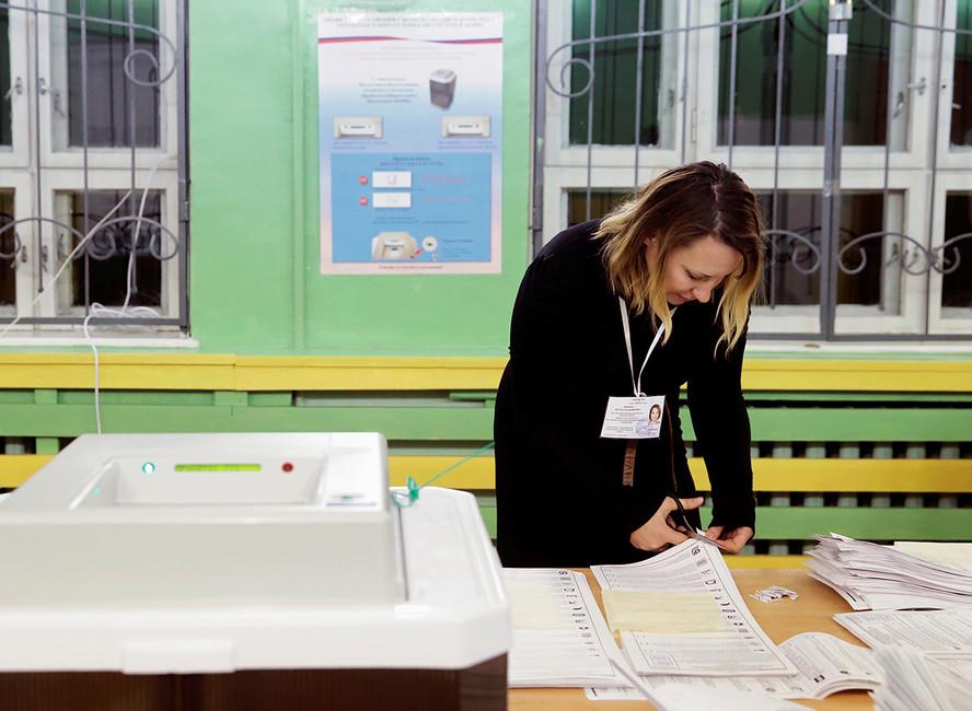 Наизбирательном участке. Фото: Максим Змеев/ Reuters