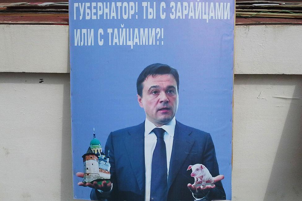 Вовремя митинга против строительства свинокомбината вЗарайске. Источник: activatica.org