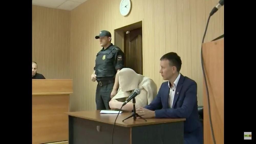 Валерия Старостенко всуде. Кадр изрепортажа телеканала НСК49