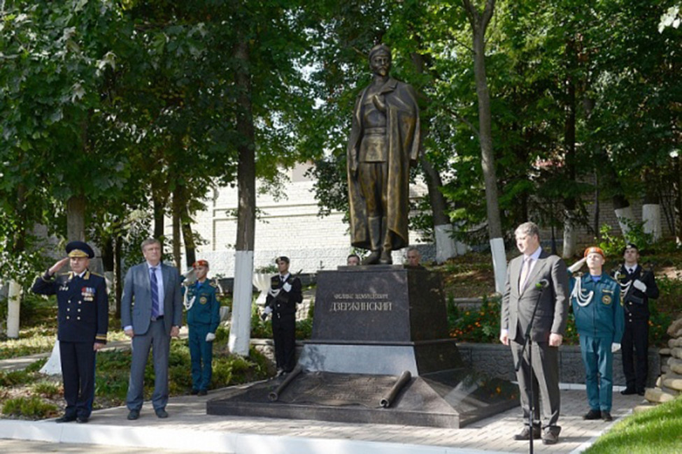 Состоялось праздничное  открытие монумента  Феликсу Дзержинскому