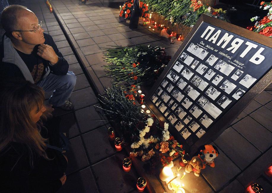 Панихида пожертвам теракта наулице Гурьянова. Фото: Станислав Красильников/ ТАСС