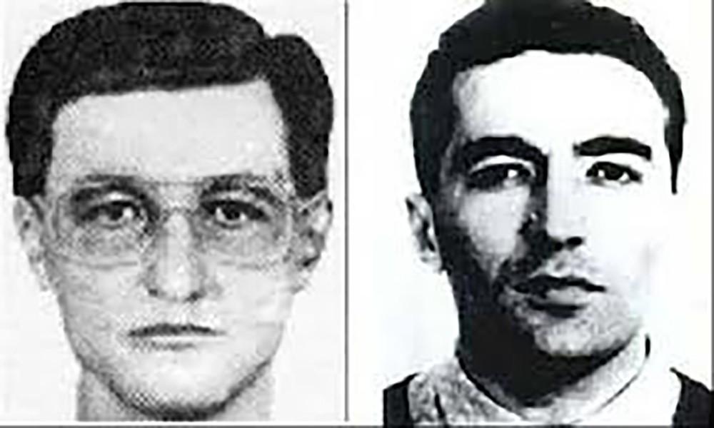 Слева: первый фоторобот наМухита Лайпанова, составленный попоказаниям Блюменфельда. Справа: Ачемез Гочияев
