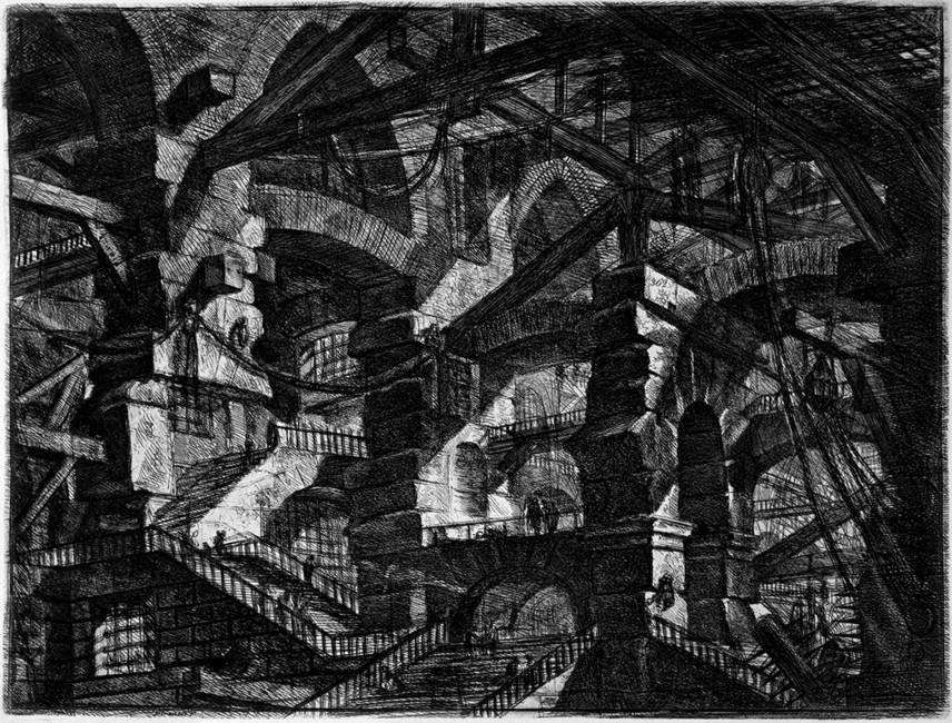 Готическая аркада. Изсерии «Тюрьмы». Гравюра Баттиста Пиранези