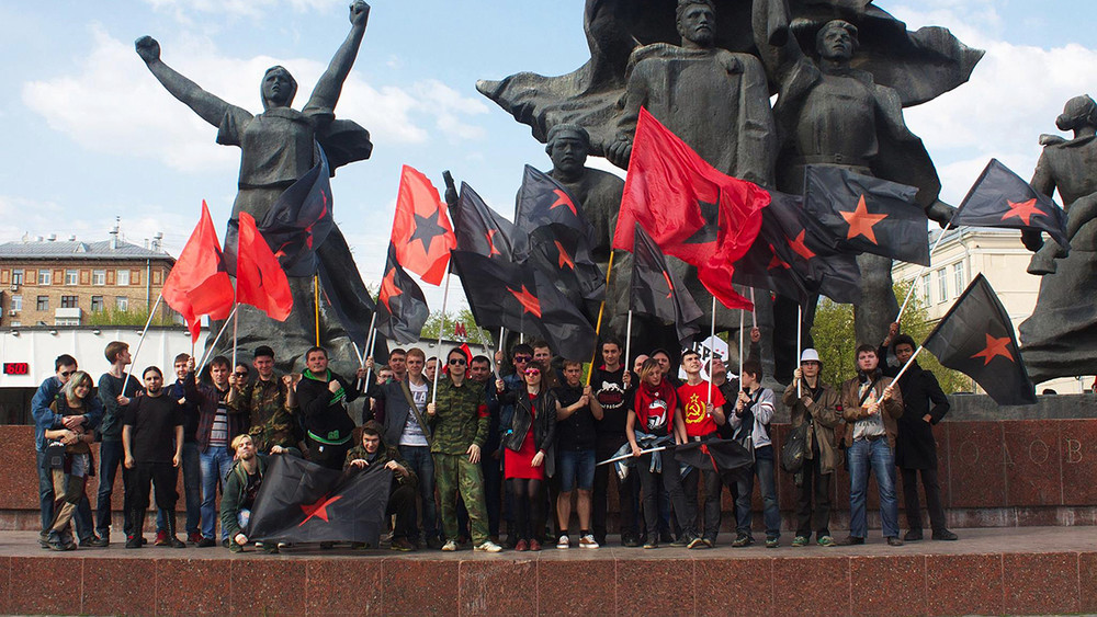 Полицейские заблокировали активистов «Левого блока» вихштабе