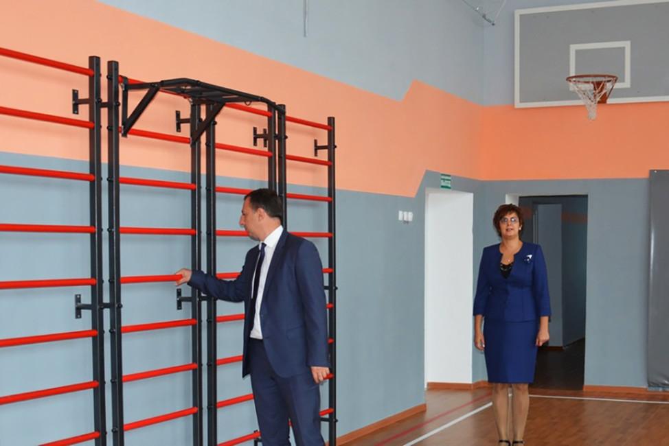 Отремонтированный спортзал вПоворинской сельской школе. Фото: Анна Вихлянцева/ riavrn.ru