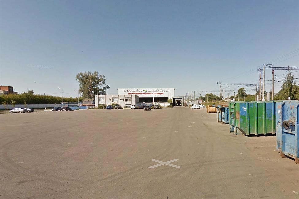 Площадка около мусороперерабатывающего завода, где прошел митинг родителей. Фото: Google maps