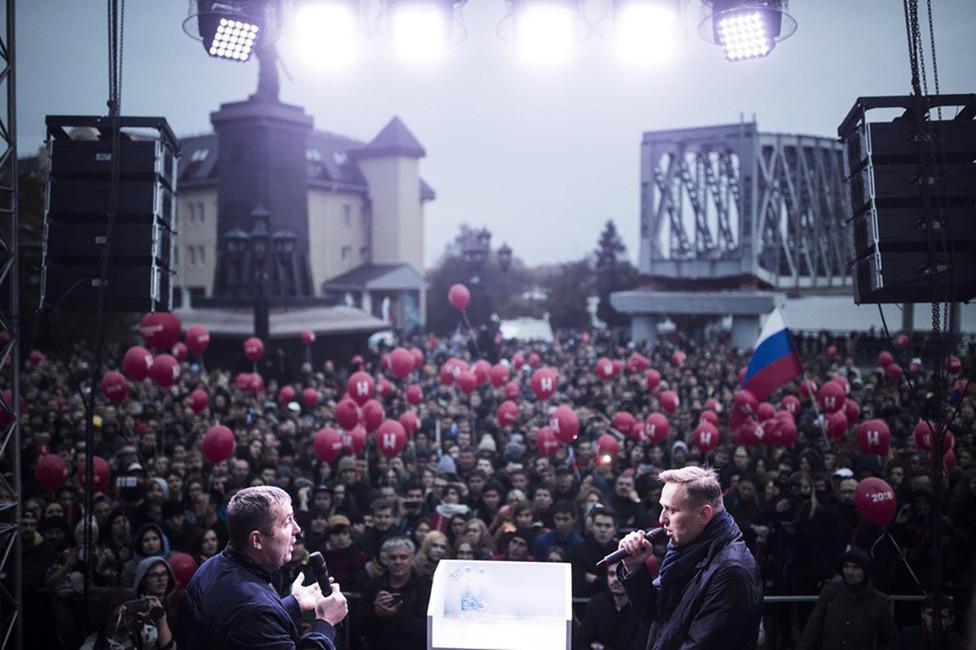 Митинг Навального вНовосибирске. Фото: Евгений Фельдман/ Фотопроект «Это Навальный»