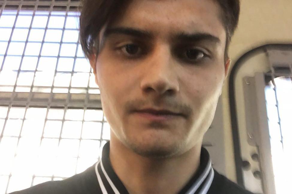 Александр Павлов, корреспондент Открытой России, вавтозаке. Фото: Открытая Россия