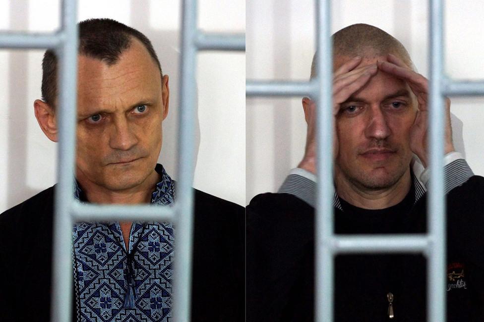 Николай Карпюк (слева) иСтанислав Клых всуде. Фото: Антон Наумлюк