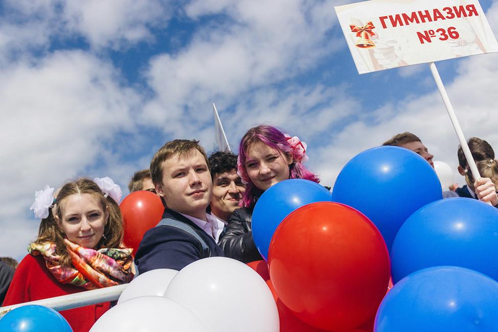 Последний звонок вКазани. Фото: Артем Дергунов/ Коммерсантъ
