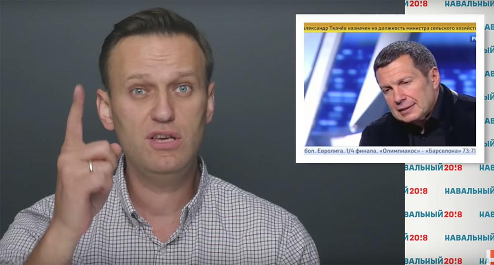 Навальный рассказал онедвижимости телеведущего Соловьева замиллиард рублей