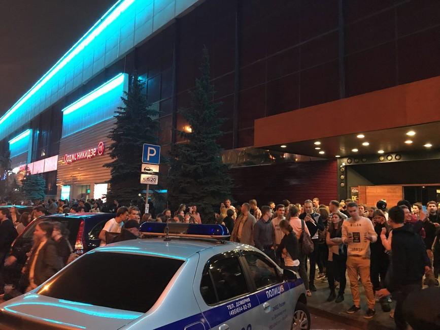 Клуб Yota Space вМоскве эвакуировали