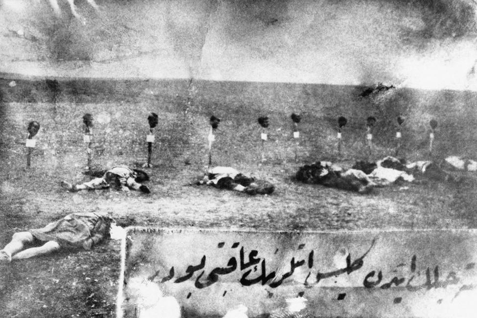 Жертвы массовых убийств армян вТурции, 1915год. Фото:   AP