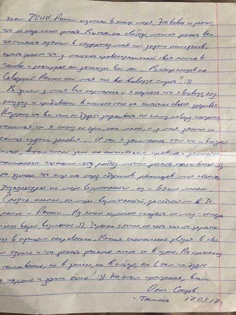 Oleh Sentsov som et symbol på russisk politik på besatte Krim
