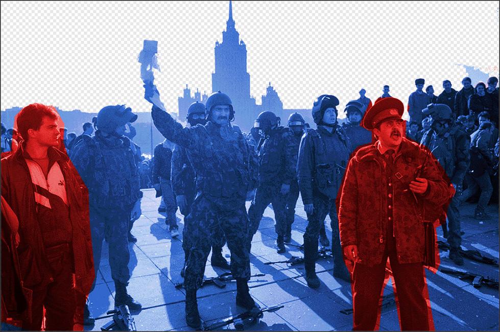 Вовремя штурма Белого дома, 4октября 1993года. Иллюстрация: Открытая Россия