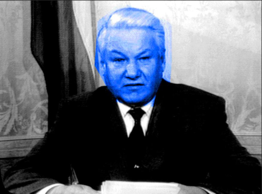 Обращение Бориса Ельцина кгражданам России потелевизору, 6октября 1993года. Иллюстрация: Открытая Россия