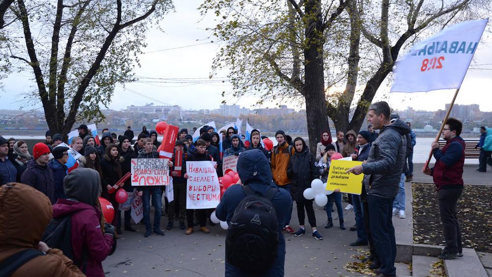 «Путин, привет отСаддама Хусейна»: митинг под ледяным дождем вИркутске
